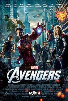 "Poster for the 2012 film ""The Avengers"""