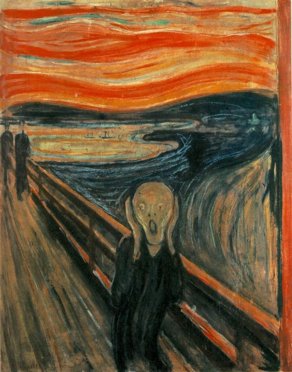 "Munch's 1893 painting ""The Scream"""